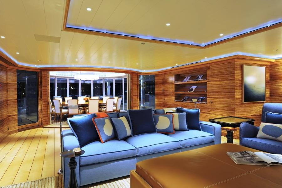 rising sun yacht interior photos