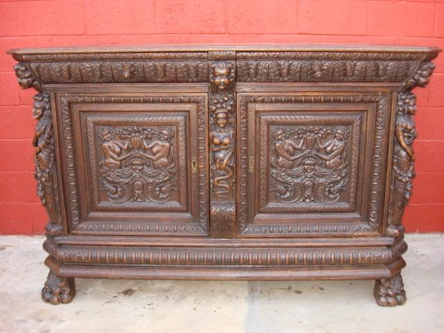Antique Furniture French Antique Carved Sideboard Server Antique...