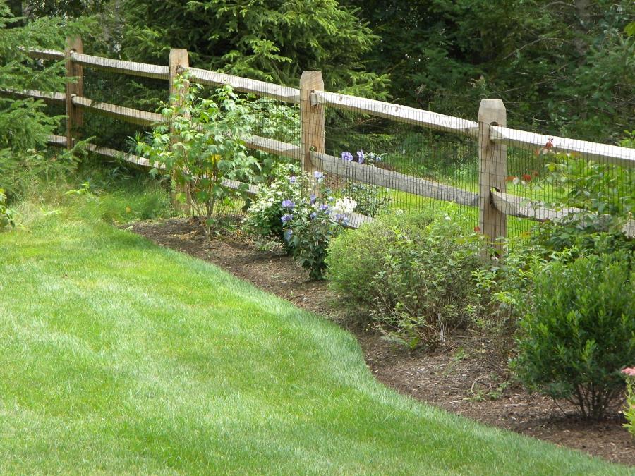 Cedar Split Rail Fence Photos