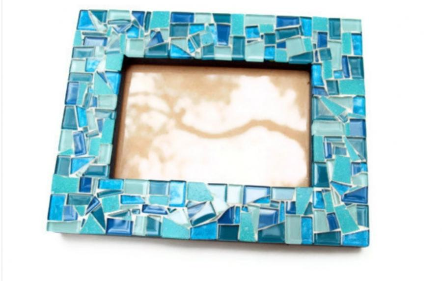 Pressed Glass Photo Frame  Anthropologie