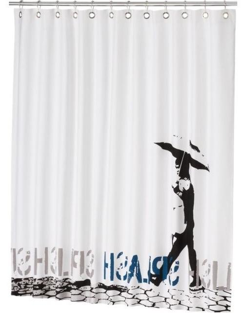 Splish Splash Shower Curtain contemporary-shower-curtains