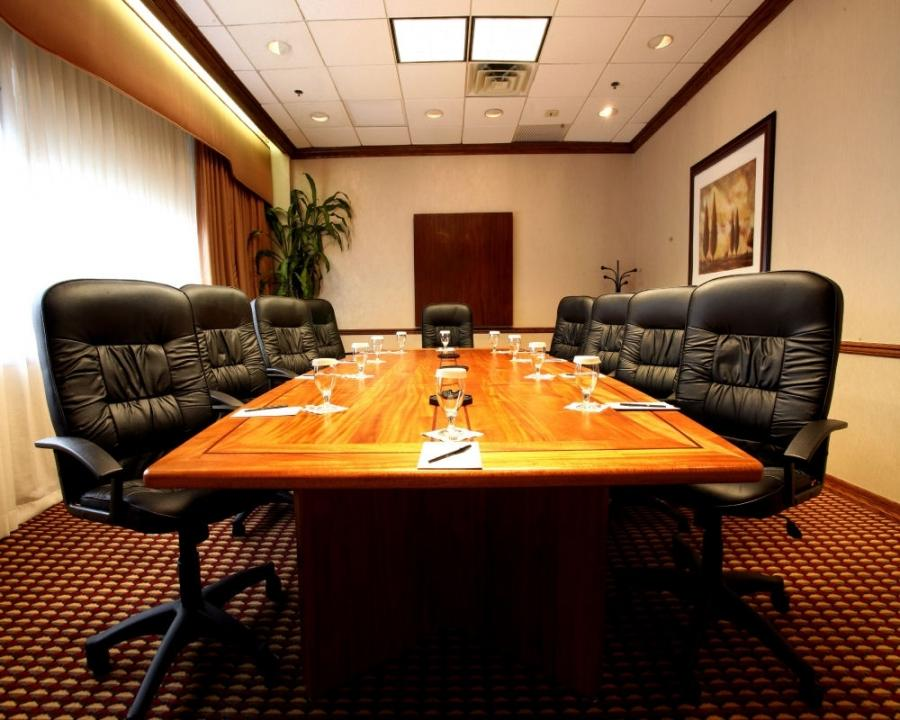 All real solid African mahogany conference room table with...