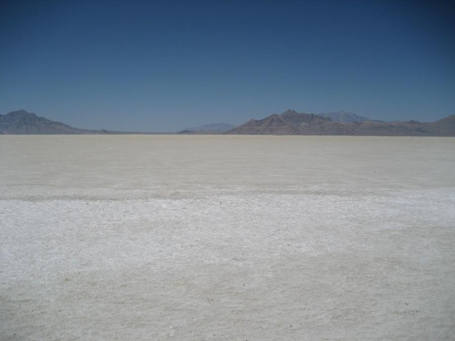 Bonneville Salt Flats during the summer