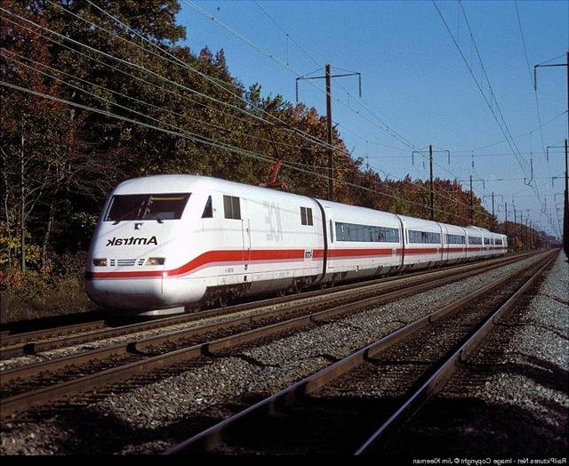 A picture of the Amtrak ICE being tested on the Northeast...