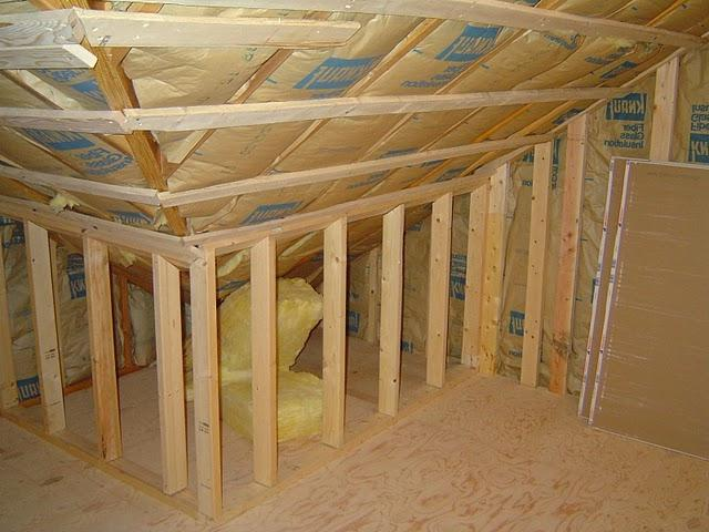 Knee walls are typically required in an attic bedroom conversion...