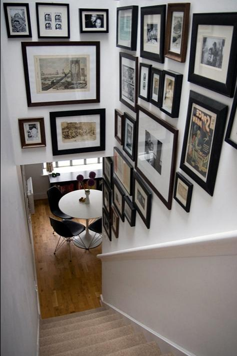 [image above: classic gallery wall space - the stairway! this...