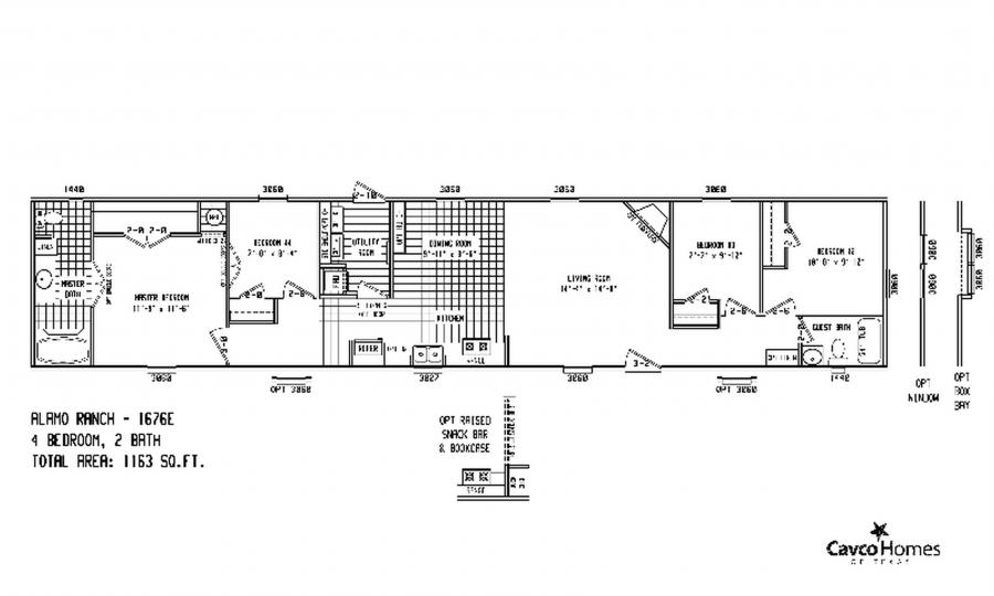 Interior photos of single wide mobile homes for 16 x 70 mobile home floor plans