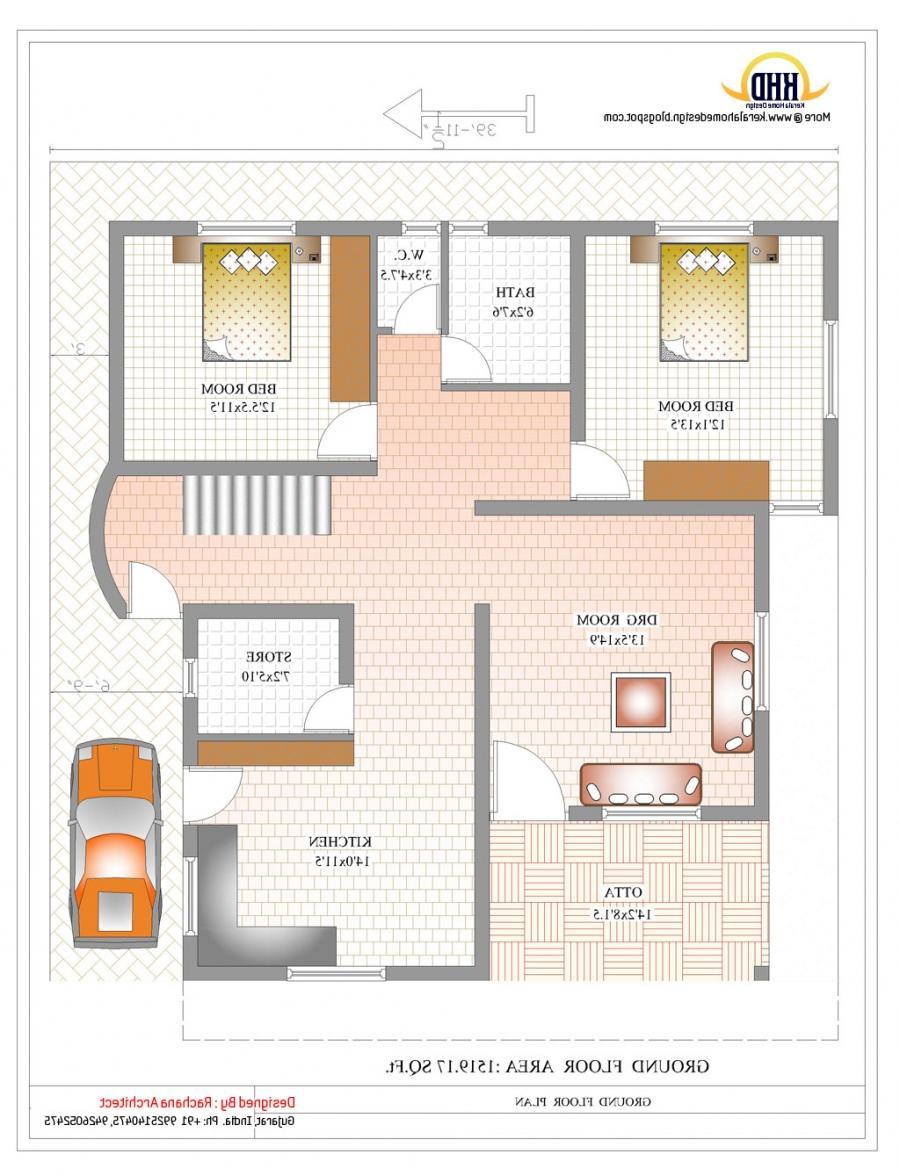 Photo House Plan Duplex
