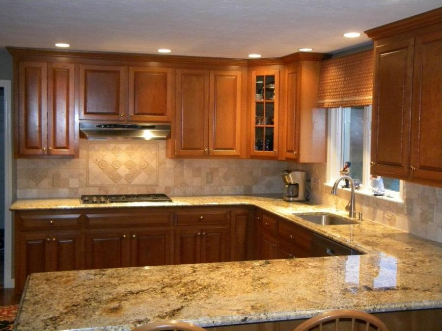 Granite countertops tile backsplash photos for Kitchen designs namibia