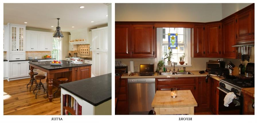 remodel kitchen before and after photo