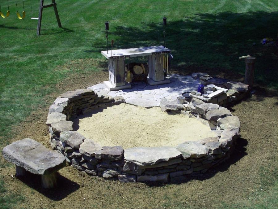 u201cCowboy kitchenu201d and fire pit in Alliance, Ohio. Dry...
