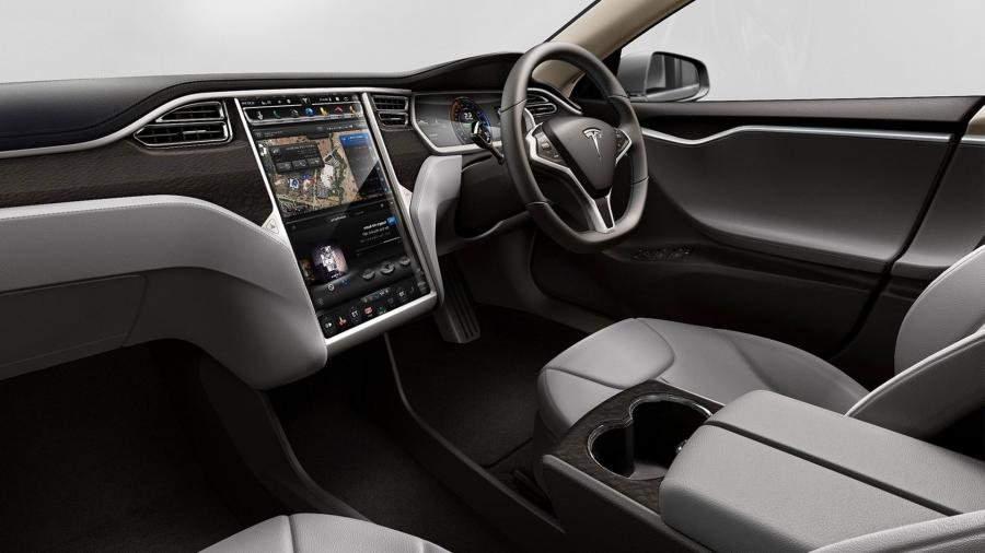 interior photos of tesla model s. Black Bedroom Furniture Sets. Home Design Ideas