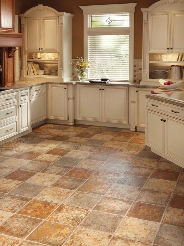 Photos of kitchen floors for Cheap durable flooring ideas