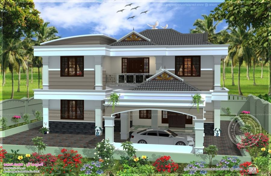 255 square yards double storied house design - Kerala home... source