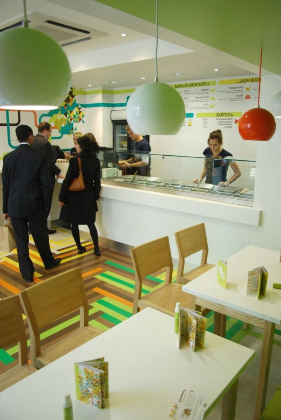 Photos of small restaurant interiors