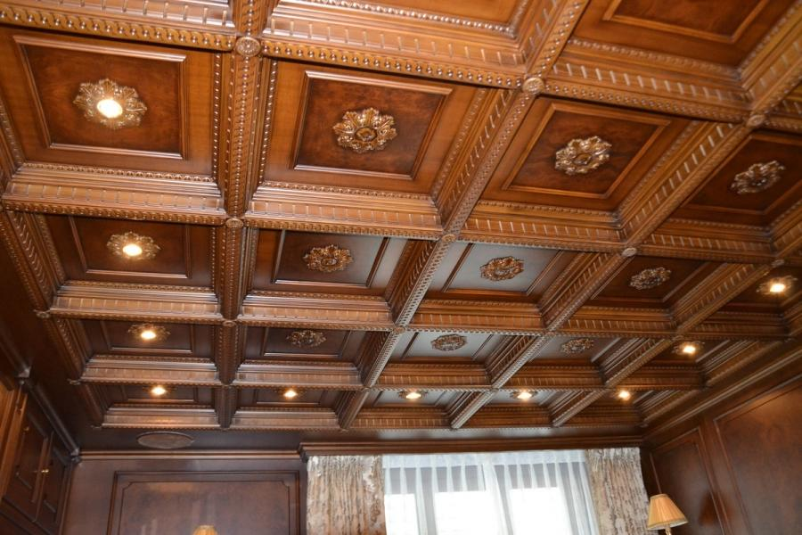 Wooden ceiling Office Wooden ceiling Luxor
