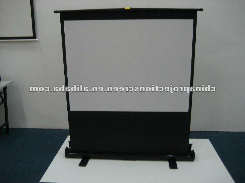 Floor screen photo frame for Motorized floor up screen