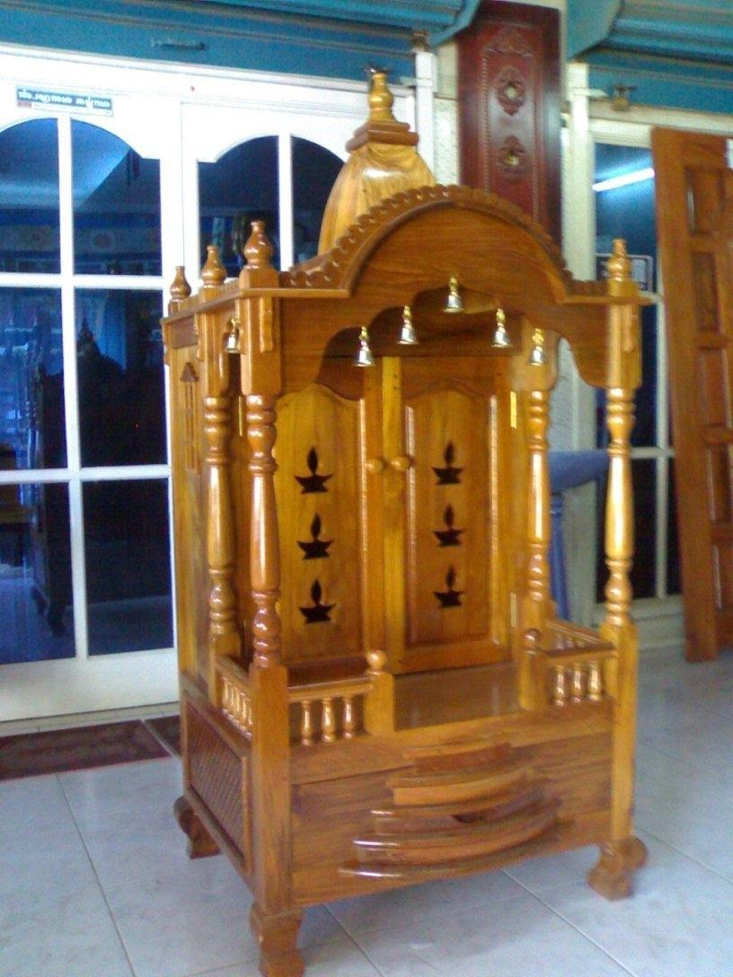 Bavas Wood Works Pooja Room Door Frame And Door Designs: Pooja Room Photo Gallery