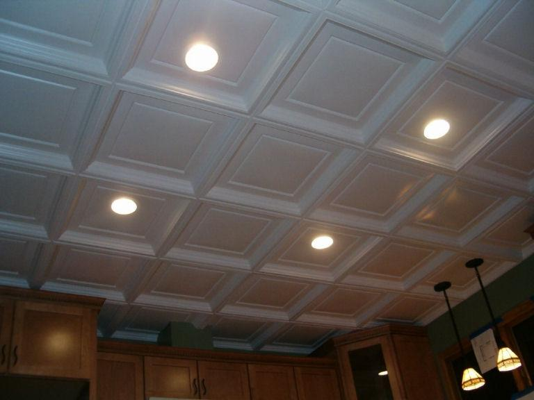 white-decorative-ceiling-tiles