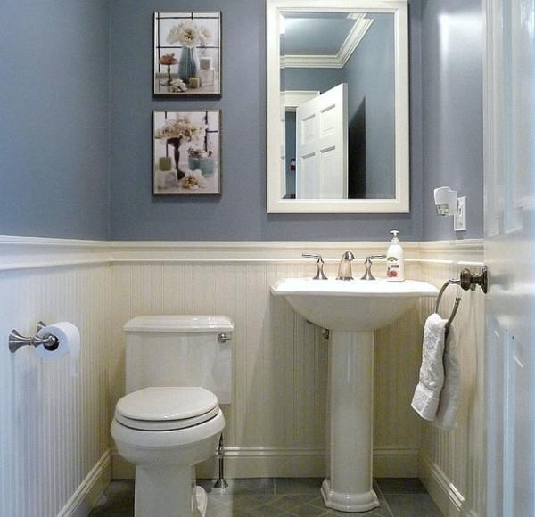 small but comfortable half bathroom ideas source