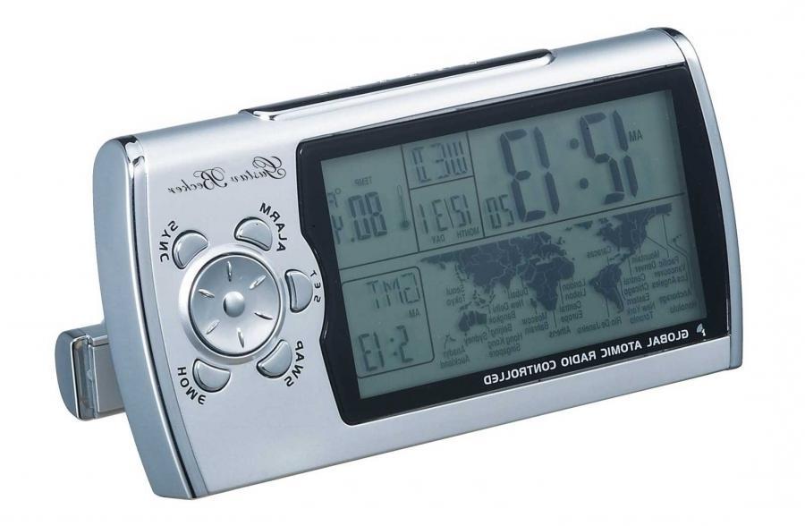 elgin travel alarm clock with digital photo frame. Black Bedroom Furniture Sets. Home Design Ideas