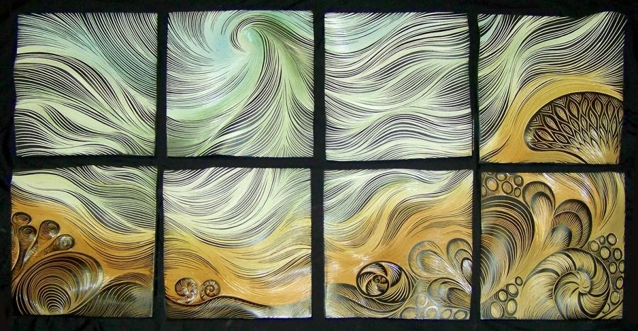 Hand painted ceramic tile murals