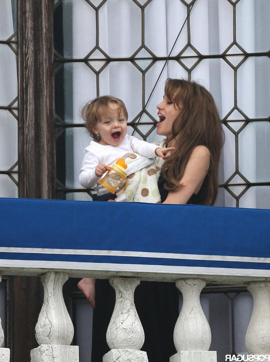 In March 2010, Knox Jolie-Pitt was all about balcony time with...