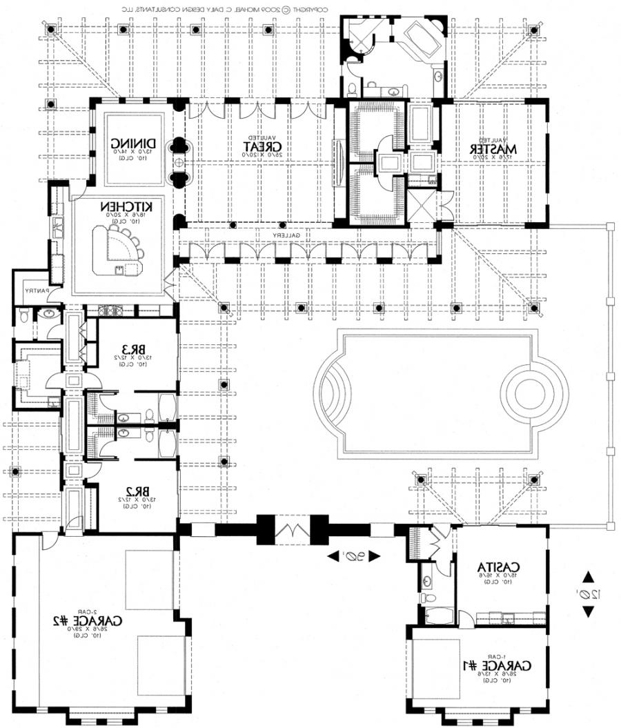 Spanish style house plans photos for Santa fe house plans