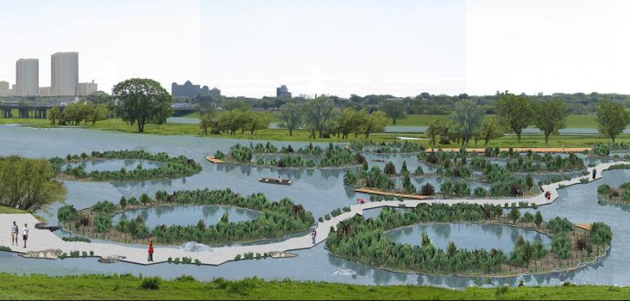 Conceptual Rendering of Eco Machines at Natural Lake for Trinity...