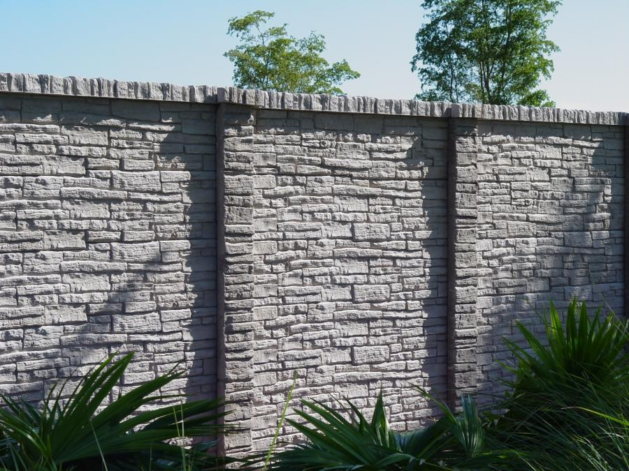 Concrete Fence Designs Photos