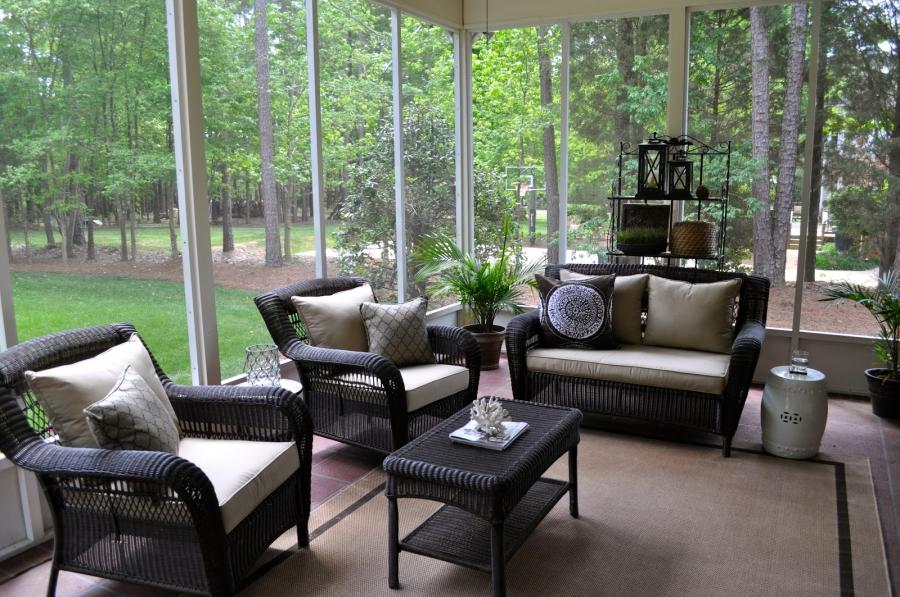 Porch furniture photos - Screened porch furniture ideas ...