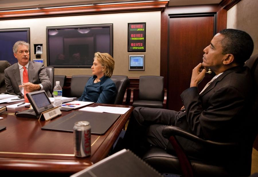 File:Barack Obama, Hillary Clinton and Bill Burns in the White...