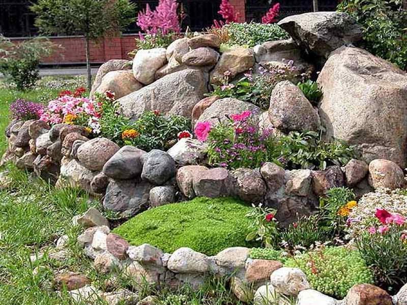 simple rock garden photos. Black Bedroom Furniture Sets. Home Design Ideas