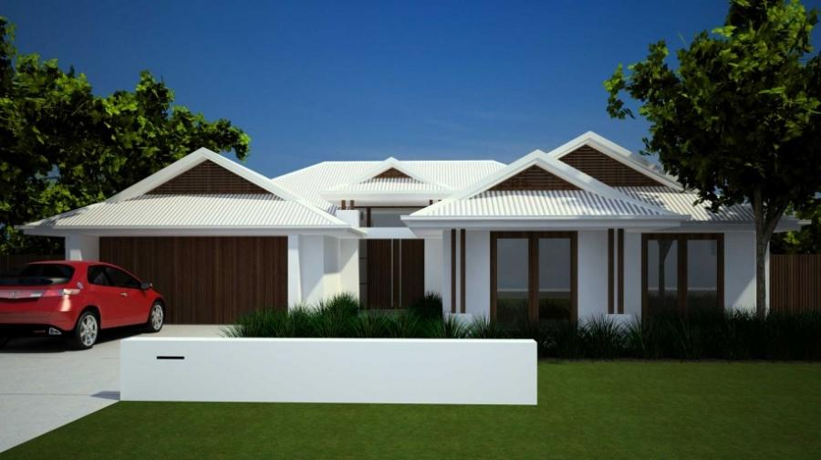 Awesome Modern Home Design White Roof Wooden Style Windows