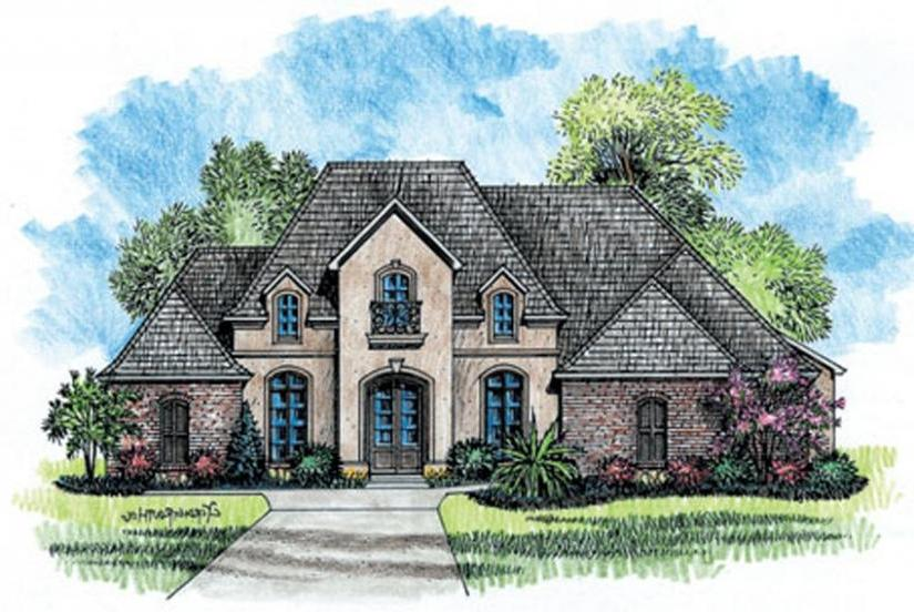 French country house plans with photos for Single story french country house plans