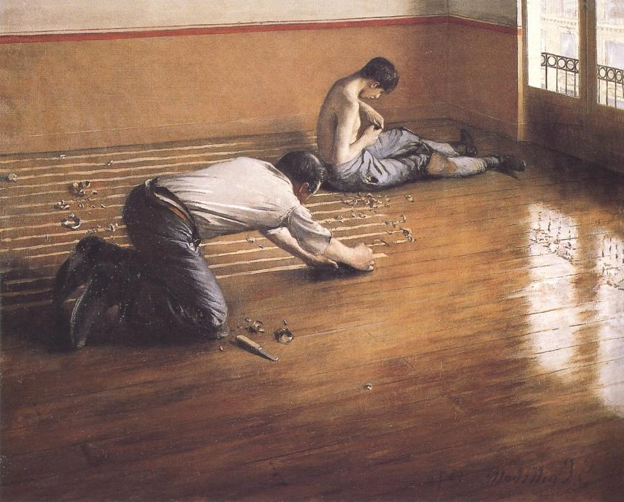1876 version of the same subject by Caillebotte