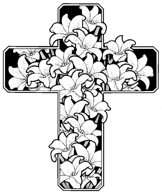 Spring flower religious photos for Spring themed coloring pages