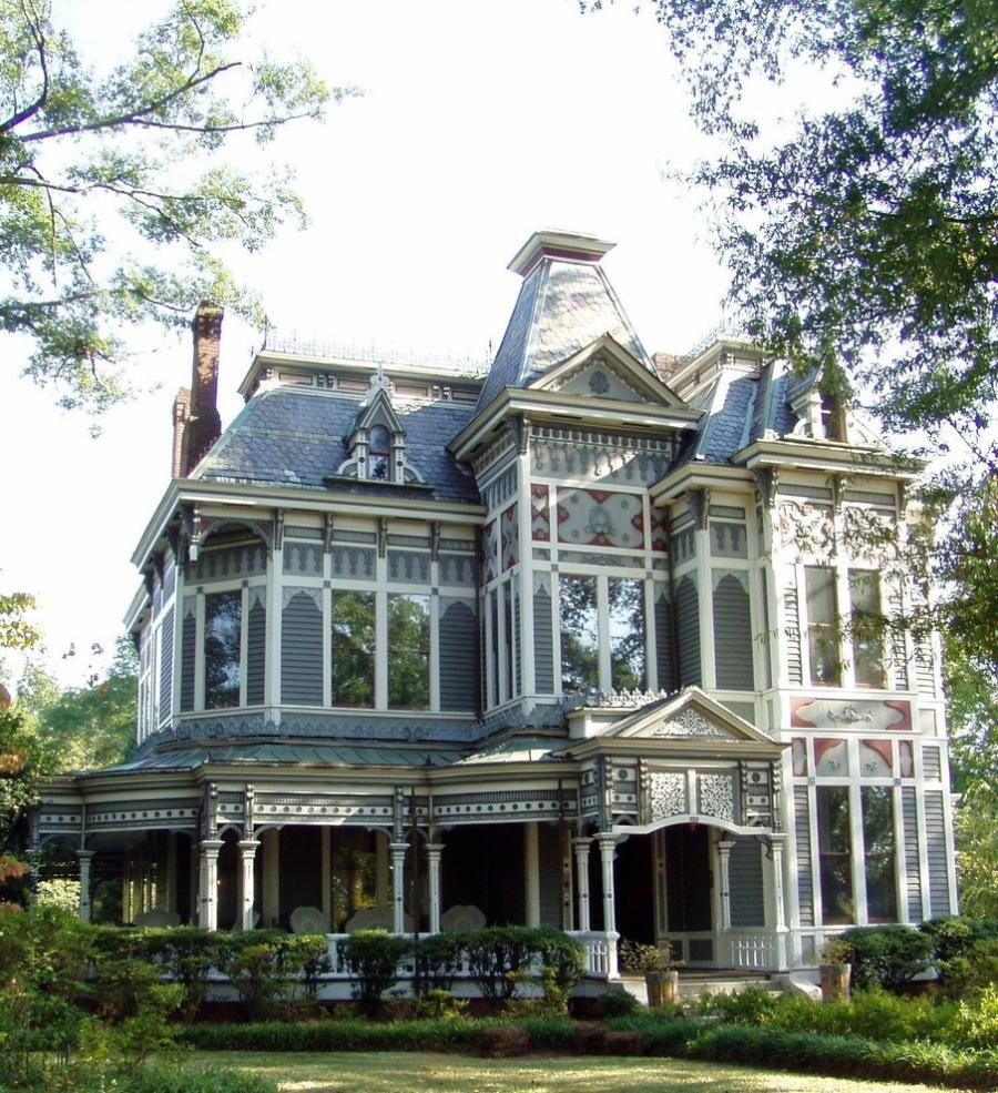 Victorian wrap around porch photos for Historic second empire house plans