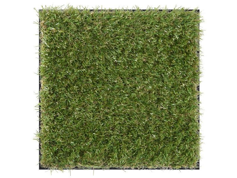 Photo tile grass - Interlocking deck tiles on grass ...