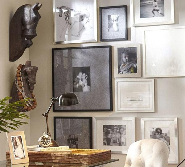 Add interest with antique frames
