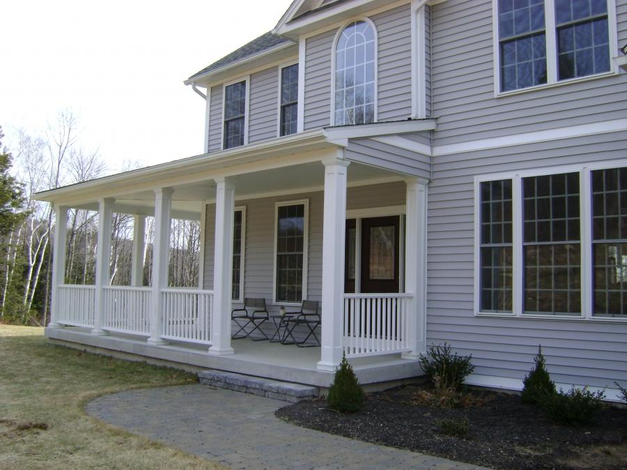 ... Front Porch Designs With Rocker Porches For Mobile Homes...