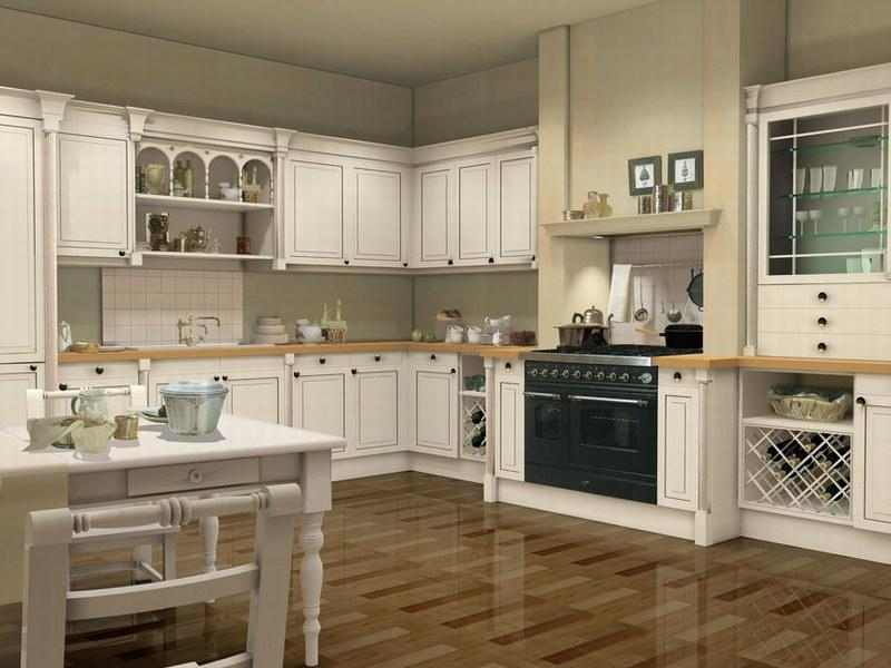 White kitchen cabinets photo gallery for Kitchen design 43055