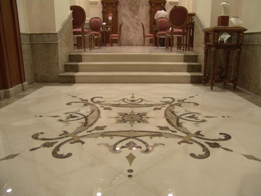 Marble flooring tile designs for entryways