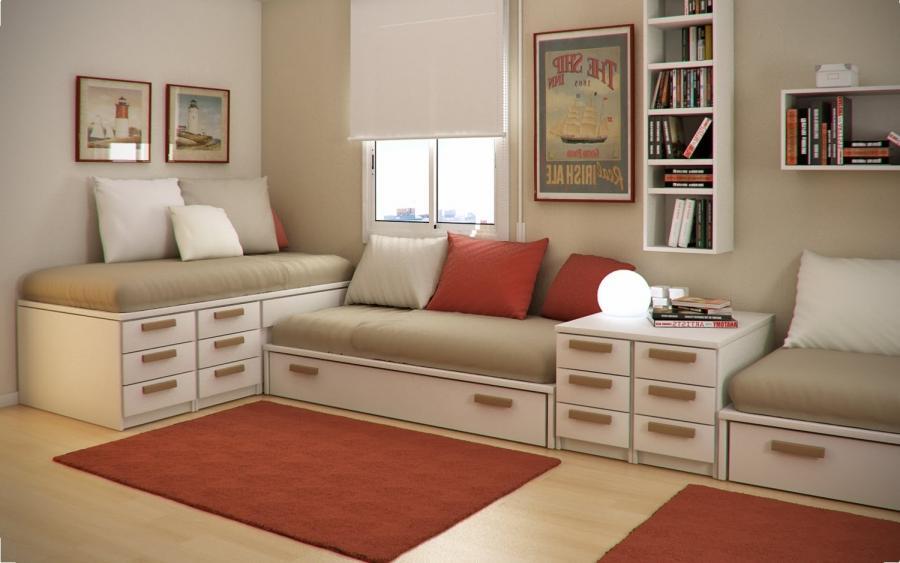 Small Floorspace Kids Room : Design Ideas Small Floorspace Kids Rooms Purple White  Home ...