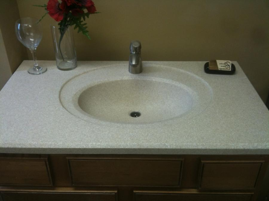 Bathroom sink photos - Custom bathroom countertops with sink ...