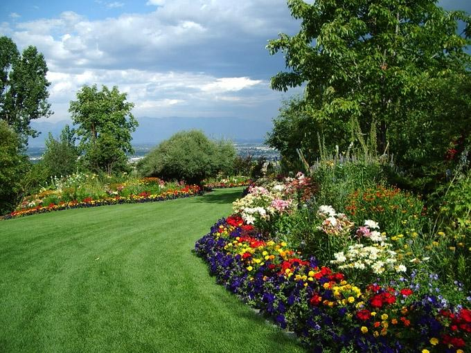 Bibler Gardens is a private display garden in Kalispell, Montana...