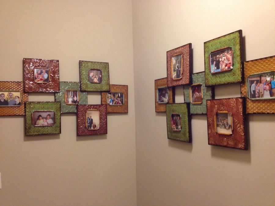 Colorful, textured picture frames were the perfect find for...