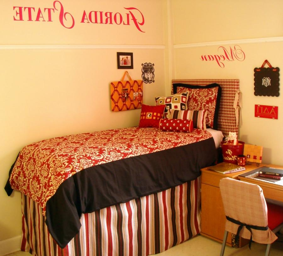Dorm room photo collage for College bedroom ideas for girls