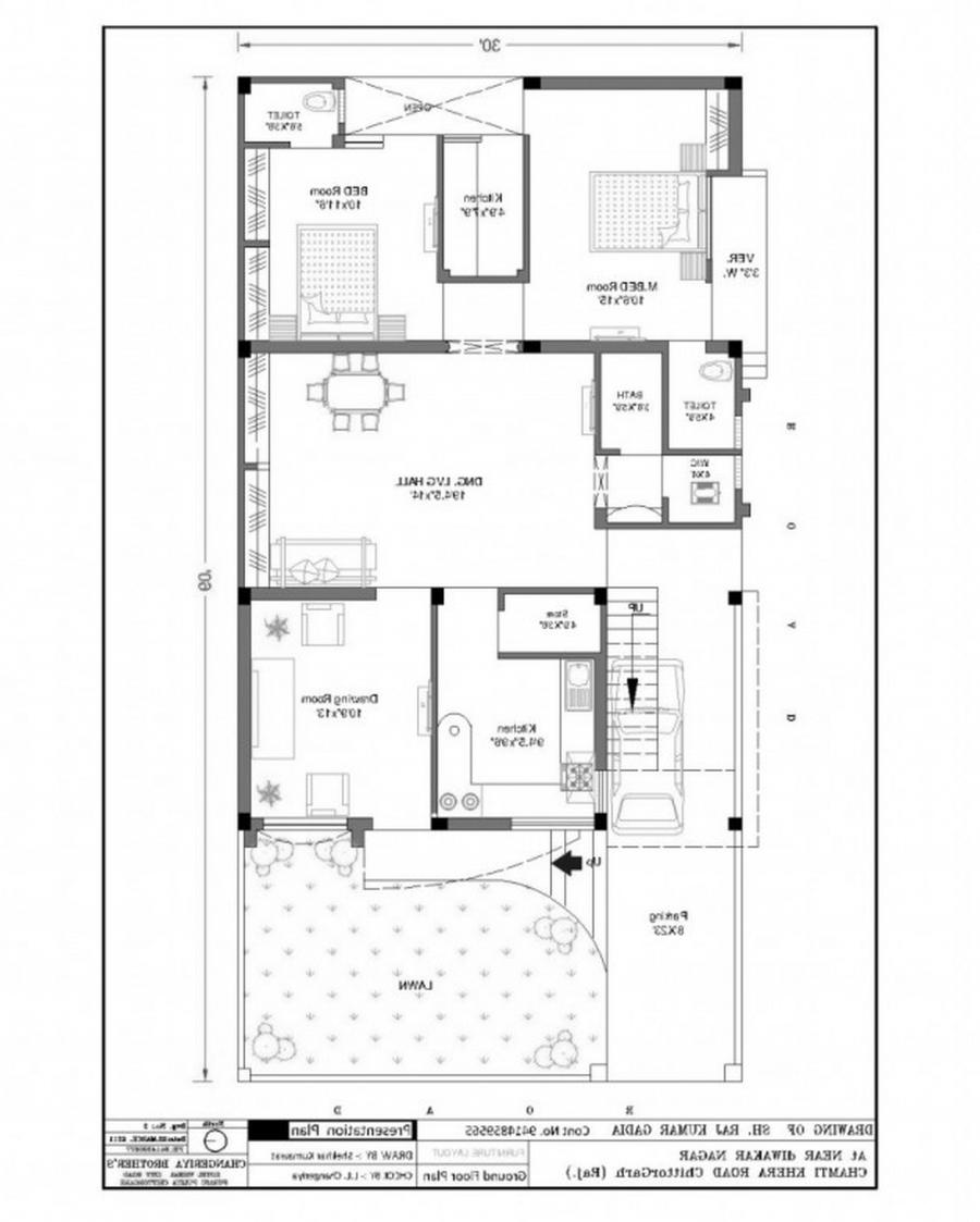 3 bedroom house plans photos india for Charming house plans