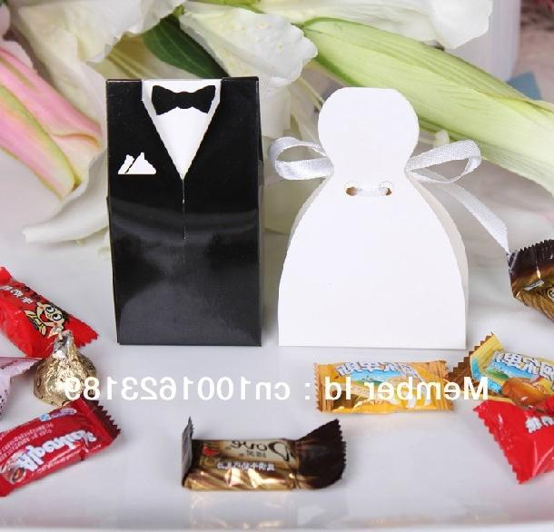 Wedding Gifts For Bride And Groom Online : 2012 Hot Sell 100pcs Bride and Groom Wedding Favor Boxes gift box...